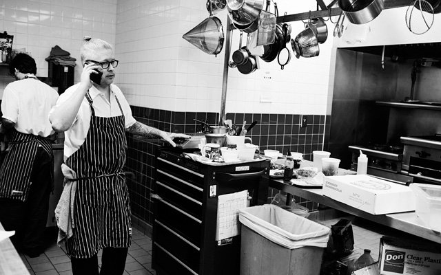 Doug Flicker in his kitchen at Piccolo restaurant