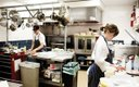 Chefs in the kitchen of Piccolo