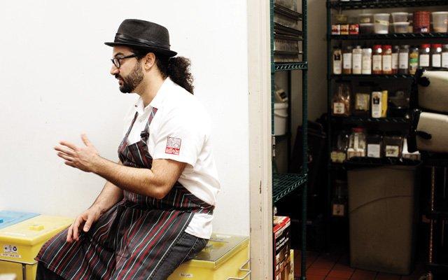 Sameh Wadi in the Saffron kitchen