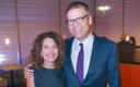 Stephanie Johnson and Blake Nordstrom at the Nordstrom ...