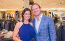 Rena Sarigianopoulos and husband Scott at the Nordstrom...