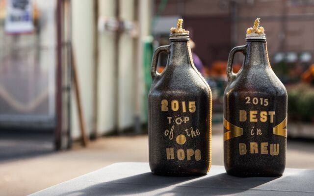 Two growler trophies for best brews for Mpls.St.Paul Ma...