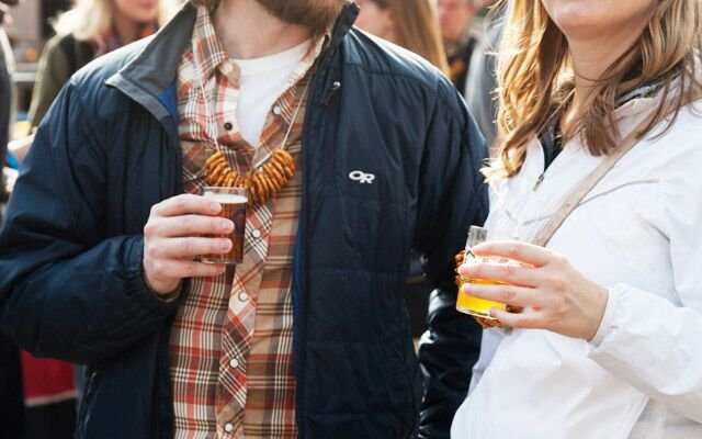 Two people sampling beer at Mpls.St.Paul Magazine's Har...