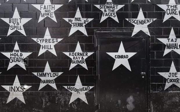 Wall outside First Avenue in Minneapolis