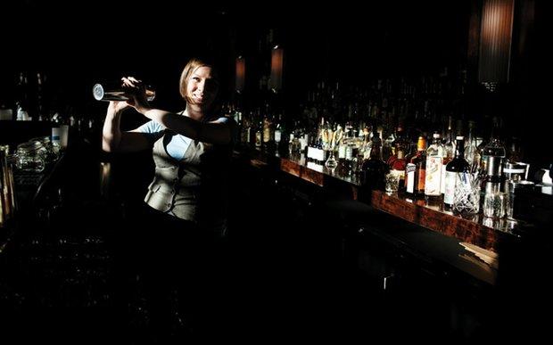 Missy Kissling behind the bar at Parlour