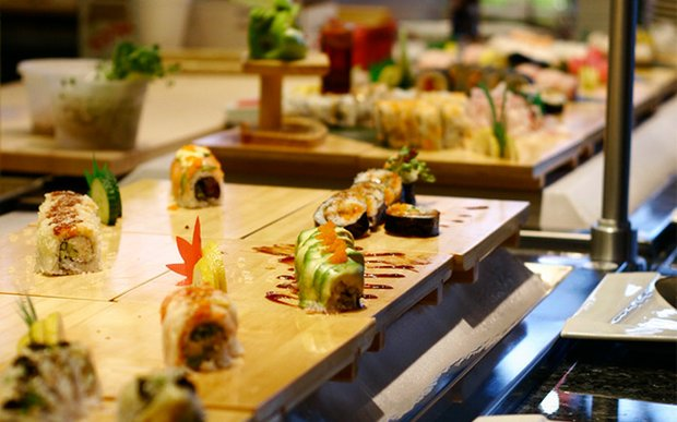 Sushi at Aji Japanese Restaurant in Hopkins, Minnesota