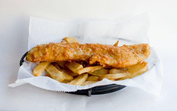 Fish and chips at Anchor Fish & Chips