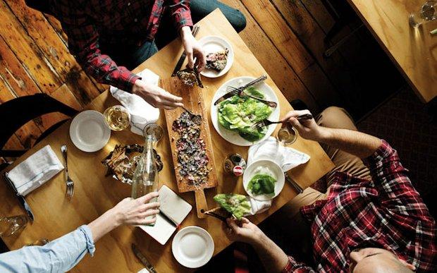 A table at The Bachelor Farmer in Minneapolis | photo by Eliesa Johnson