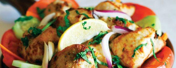 Tandoor-roasted malai kebab at Bukhara Indian Bistro