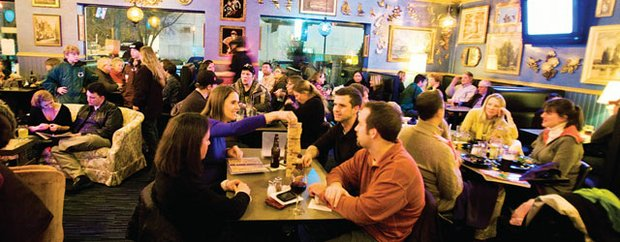 Diners at Chatterbox Pub