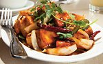 Manchurian stir fry at ChinDian Cafe