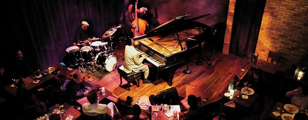 Interior of Dakota Jazz Club on Nicollet Mall