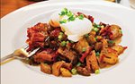 Kobe brisket corned beef hash at Grande Cafe