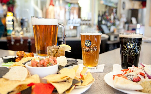 Beer and food at Great Waters Brewing Company in St. Paul
