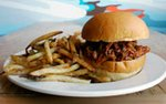 Pulled pork sandwich at The Lowbrow