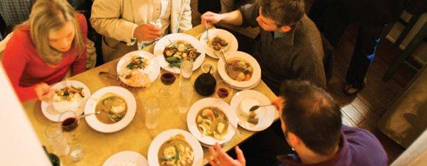 Diners at Mango Thai Restaurant