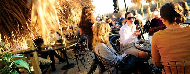 Outdoor patio at Psycho Suzi's