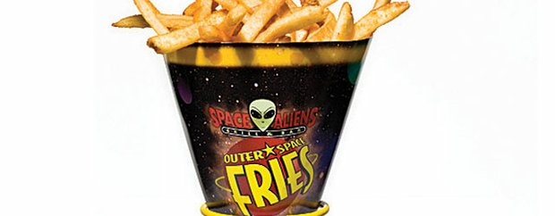 Fries at Space Aliens