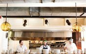 Chefs in the kitchen at Tilia in Minneapolis, Minnesota