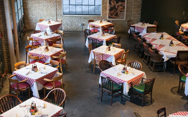 The dining room at Smack Shack in the North Loop of Minneapolis