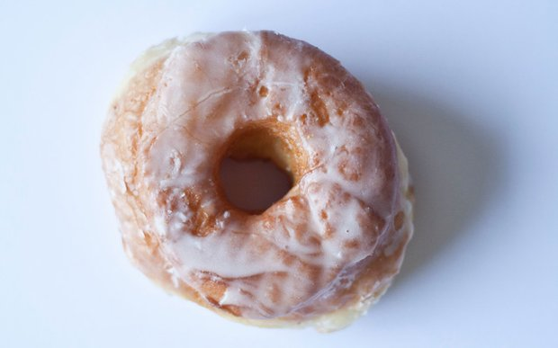 A glazed donut from Mel-O-Glaze Bakery in Minneapolis