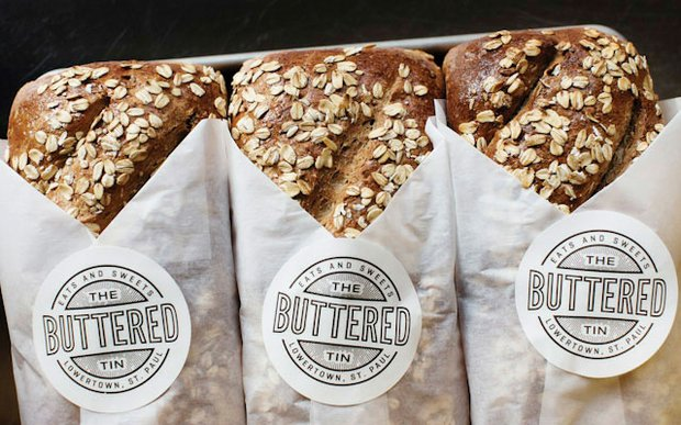 Loaves of bread from The Buttered Tin in Lowertown, St. Paul | Photo by Eliesa Johnson