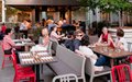 The patio at Marin restaurant in downtown Minneapolis