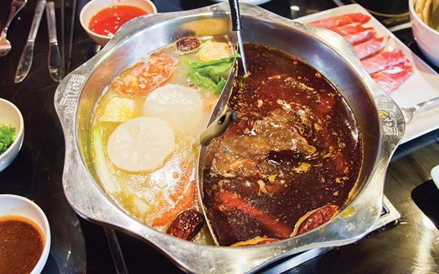 Hot pot at Little Szechuan