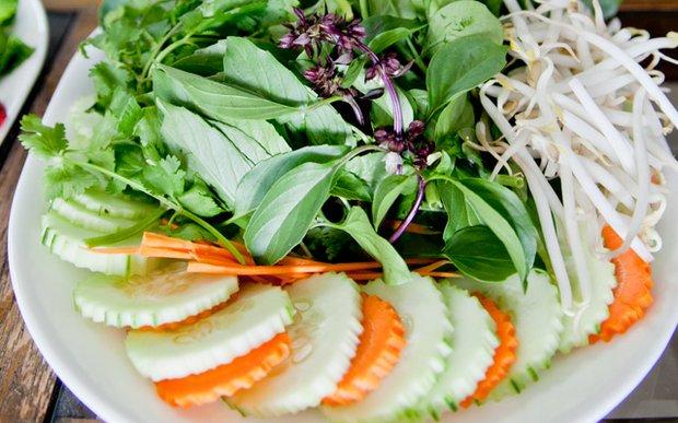 A plate of vegetables at Royal Bangkok in St. Paul