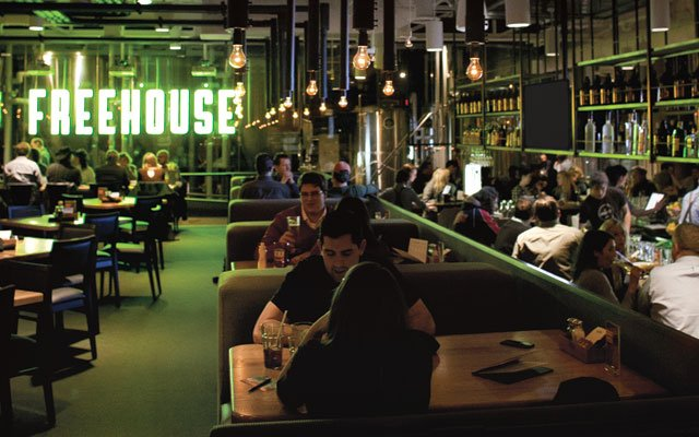 Interior of The Freehouse