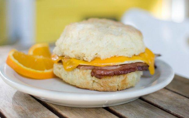 A breakfast sandwich at Butter Bakery in Minneapolis