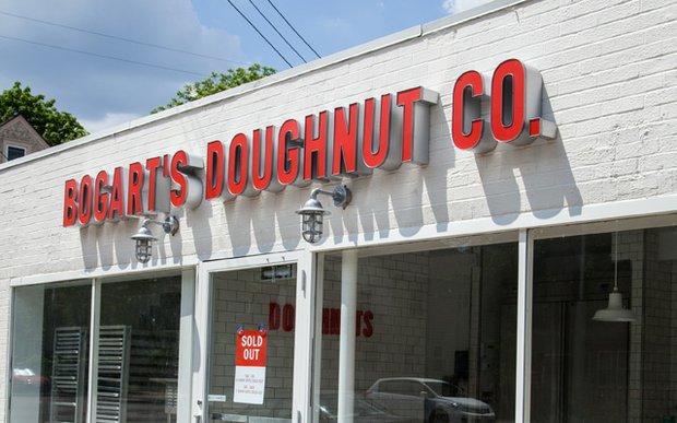 Exterior of Bogart's Doughnut Co.