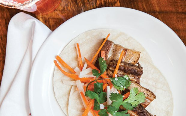 Pork belly tacos at Saguaro | photo by Caitlin Abrams