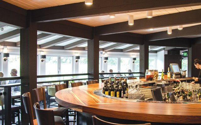The bar at Cast & Cru in Greenwood, Minnesota | Photo by Caitlin Abrams