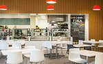 Interior of Fika cafe at American Swedish Institute