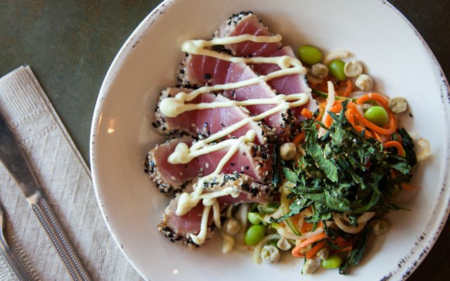 Seared tuna plate at Agra Culture Kitchen & Press   Photo by Caitlin Abrams