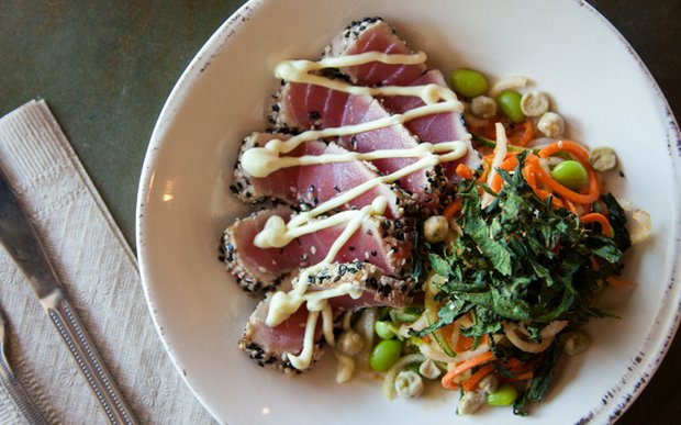 Seared tuna plate at Agra Culture Kitchen & Press | Photo by Caitlin Abrams