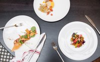 Plates of food at Spoon and Stable | Photo by Caitlin Abrams