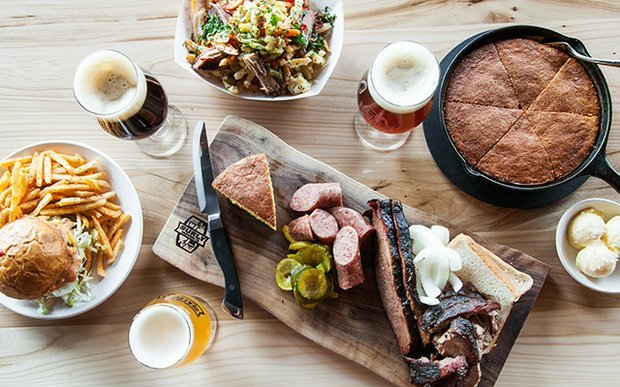 A spread at Surly Beer Hall in Minneapolis, MN