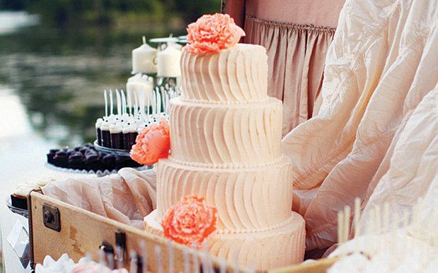 A wedding cake made by Cocoa & Fig