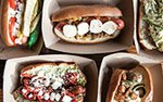 A variety of hot dogs at Prairie Dogs on Lake Street in Minneapolis