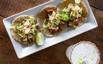 Tacos and margarita at Tinto Cocina