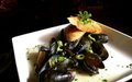 A dish of mussels from Vieux Carre restaurant