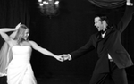 A couple dancing at their wedding