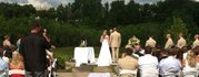 A wedding ceremony at the Eagan Community Center