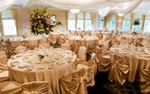 Wedding reception setup at the Golden Valley Golf and Country Club