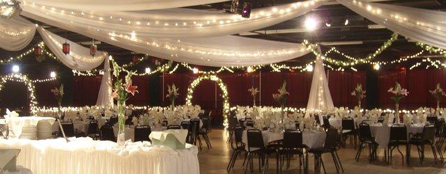 A wedding setup at Medina Entertainment Center