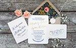 An invitation suite by Paper Rock Scissor