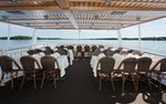 A formal event set up on the Queen of Excelsior on Lake Minnetonka