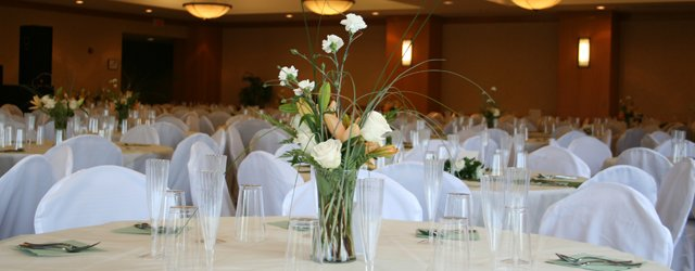Shoreview Community Center set up to host a wedding